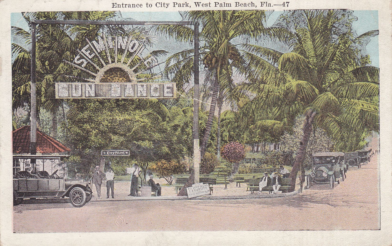 carte postale ancienne floride usa
