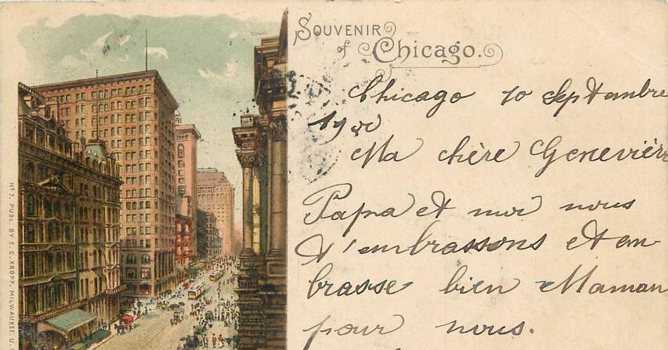 carte postale ancienne chicago